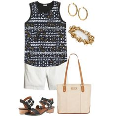 106 degrees here today by texasgal50 on Polyvore featuring J.Crew, Marc Fisher and John Hardy