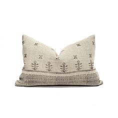 14×20 black on flax block printed linen lumbar pillow cover Pillow Cover Design, Pillow Covers, Designer Pillow, Printed Linen, Linen Pillows, Boho Pillows, Handmade Pillows, Natural Linen, Printing On Fabric
