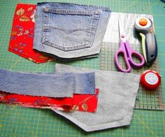 Pocket Purse from an old pair of jeans... DIY Tutorial