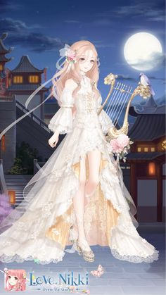 Fashion Games, Fashion Art, Anime Outfits, Girl Outfits, Adventure Time Flame Princess, Create Your Own Character, Anime Angel Girl, Cute Girl Wallpaper, Anime Dress