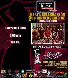 """Cresta Metálica Producciones » BarNuvo El Puto Bar presenta: Bitch´s House: 2do Aniversario"""" (Caracas) // 22-11-2014"""