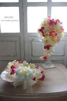 プルメリアブーケと花冠