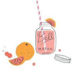 Cute summertime illustration.