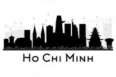 #Ho #Chi #Minh #City #Skyline #Silhouette by Igor Sorokin on @creativemarket