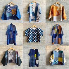 Batik Blazer, Blouse Batik, Batik Dress, Kimono Fashion, Denim Fashion, Color Blocking Outfits, Mode Top, Layered Fashion, Recycled Fashion