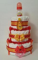 Elmo - Sesame Street Inspired Diaper Cake - 3 Tier