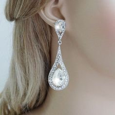 Ebay-bp_natural_uk-Sterling Silver Pierced Earrings Clear Crystal ...