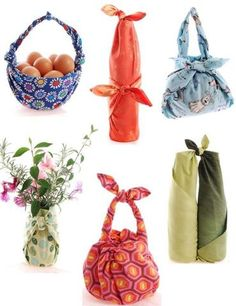 What is Furoshiki fabric wrapping? Functional versatile environmentally friendly and culturally interesting furoshiki refers to a fabric wrapping technique that can quickly turn a simple square of cloth into a bag a wrapping. Japanese Gift Wrapping, Japanese Gifts, Zipper Pouch Tutorial, Purse Tutorial, Fabric Gifts, Fabric Bags, Fabric Basket, Bag Patterns To Sew, Quilt Patterns
