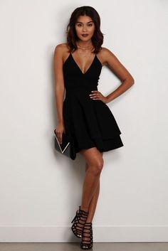 Black Late Night Fantasy Dress - Black Dresses - Ideas of Black Dresses Banquet Dresses, Grad Dresses, Dance Dresses, Cute Dresses, Black Homecoming Dresses, Dresses Dresses, Dress Prom, Stylish Dresses, Casual Dresses