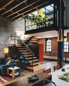 """10.7 mil Me gusta, 46 comentarios - ALL OF ARCHITECTURE (@allofarchitecture) en Instagram: """"#AllofArchitecture  Tribeca Loft is designed byAndrew Franz Architect PLLCas Architects"""""""