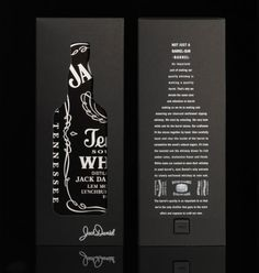 Jack Daniels Whiskey box packaging designed by Mayday Cool Packaging, Beverage Packaging, Bottle Packaging, Product Packaging, Black Packaging, Jack Daniels, Web Design, Label Design, Package Design