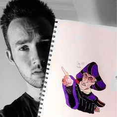 Frollo drawing by SDJCoxy for 'Disney Through The Ages'