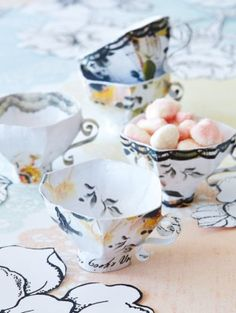 Paper Teacup template. Amazing!