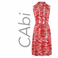 """❤️CAbi Brushstroke Dress - Beautiful Colour NWOT❤️ Simply gorgeous Day - to - Night CAbi """"Brushstroke"""" Dress from Spring 2015 - Sleeveless - self-tie belt ❤️Never Worn - NWOT ❤️ Mid-calf length, drop waist, bold, geometric print. Look polished and confident . . .  Size medium is a generous size 8 and could even be a size 10 Bust: 40inches Waist (at drop): 42 inches Length: 42 inches CAbi Dresses Midi"""