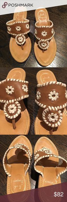 Jack Rogers Glittered Deep Carmel Classic Wedges Offers encouraged & flexible                                                                                Bundle to save                                                                                                   Like for price drop notifications                                     EUC, near perfect condition. Gold glitter specks along the wood paneled-esque wedge. Deep Carmel color and white woven classic Jack Rogers wedge shoe. Size…