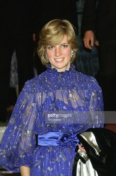 Princess Diana In Cardiff, Wales After Delivering A Speech In Welsh