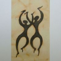card-two-dancers by Serge Vanden Berghe