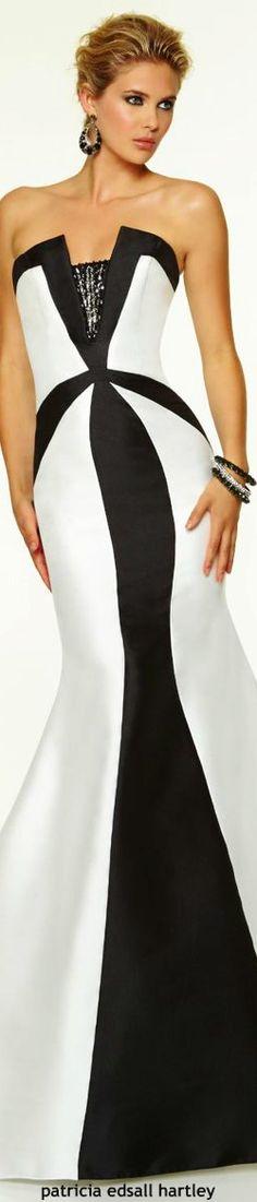 NEGRO Y BLANCO...❤ Black and White branco e preto vestido dress festa luxo lux glamour gala noite Night alta costura fest festa 2017 casamento formatura black-tie longo