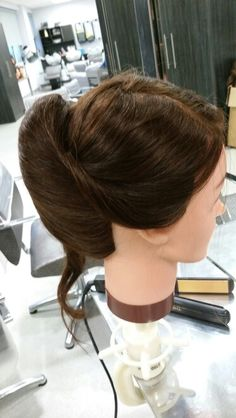 Practacing hair up by Danielle covington