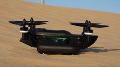 WLToys Q353 Air Land Sea Triphibian Quadcopter Flight Test