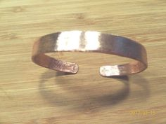 Copper Cuff Satin Finish Bracelet by ShineyBoutique on Etsy, $50.00