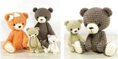 Delightful Crocheted Bear Collection [FREE Crochet Pattern]