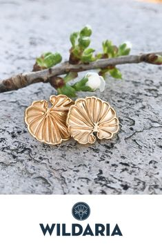 Made in Norway. Inspired by the mushroom Anthracophyllum discolor. Gold Plated Earrings, Handmade Silver, Mushroom, Norway, Plating, Silver Jewelry, Inspired, How To Make, Inspiration