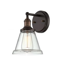 Nuvo Lighting 60 5512 Vintage 6 5 Width 1 Light Bathroom Sconce In Rustic Bronz