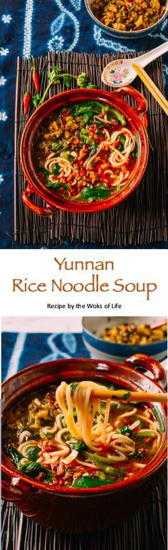 Gluten Free, made to order, single serving, quick and easy noodle soup using ground pork.