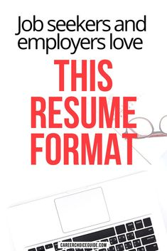 There are plenty of resume formats you can use, but there's one single format that's best for most job seekers most of this time. Find out which resume design is most likely to show of your skills at their best and help you find a job faster. #resume #resumeformat #careerchoiceguide Resume Writing Tips, Resume Skills, Job Resume, Resume Tips, Resume Ideas, Cover Letter Tips, Writing A Cover Letter, Cover Letter For Resume, Cover Letters