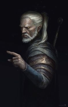 I did a Geralt fanart cause hype. My friends are playing The Witcher from the first version on and I decided it could be nice to see mr. Geralt a bit more older for a Witcher4 version.