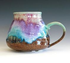 We love the handmade mug; very earthy and perfect for artsy folks!