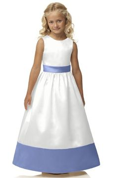 Dessy Fl4034 Flower Girl Dress   Weddington Way. $176 periwinkle