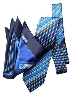 #zilli  #ジリー #mensfashion #necktie #ネクタイ #silk #絹 #チーフセット (ジリー)ZILLI シルク プリント 細身 ネクタイ ポケットチーフ セット ブルー : 服&ファッション小物通販 | Amazon.co.jp