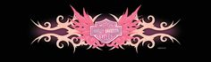 harley davidson stickers pink | 70055 - Harley-Davidson® Rear Window Graphic Decal Pink Departed Wing