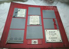 Keep Calm & Carry On single page deluxe frameable layout $6.00 Email Zwolaneks@att.net to order.