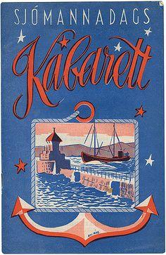 Seamen's day Cabaret leaflet from Iceland