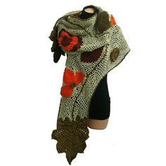 Girion - freeform crochet scarf via Etsy