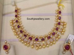 Ruby South Sea Pearls Necklace photo