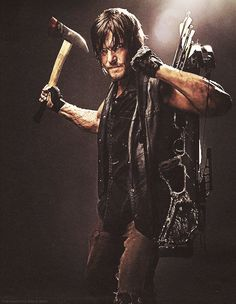Daryl Dixon [Norman Reedus] New weapons... I approve.
