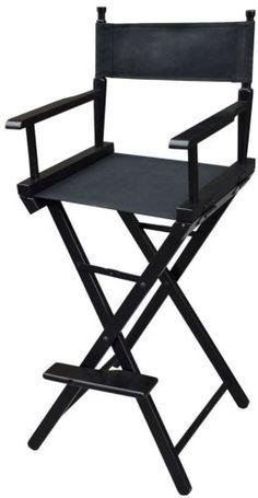 NEW Professional Foldable Makeup Artist Directors Wood Chair Light Weight Black | eBay