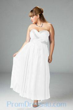 White dresses plus size cheap
