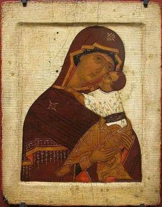 Theotokos of Tenderness icon, Russian, vierge de tendresse, russie Religious Rituals, Religious Icons, Religious Art, Russian Icons, Russian Art, Best Icons, Byzantine Art, Orthodox Icons, Sacred Art