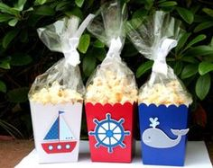 Items similar to Nautical Party Goodie Boxes Set of 12 on Etsy Baby Shower Cupcakes For Boy, Cupcakes For Boys, Baby Boy Shower, Baby Shower Gifts, Sailor Birthday, Sailor Party, Baby Birthday, Baby Shower Marinero, Nautical Party