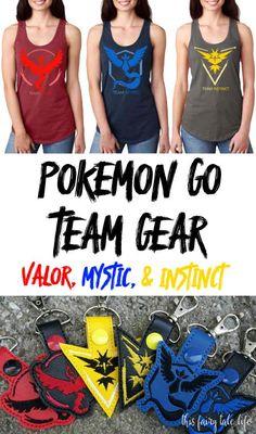 Mystic, Instinct, and Valor - Grab your Pokemon Go Team Gear