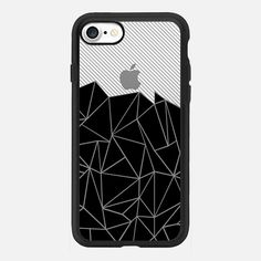 Ab Lines 45 Grey and Black Transparent -  #casetifyiphone7 #iphone7 #geometric #abstract #phonecase