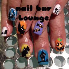 Halloweeny #nailart #nsinails #nails #naildesign #halloweennailart #nsi @nsinails @NSIUK Love Nails, Pretty Nails, Fun Nails, Holiday Nail Art, Halloween Nail Art, Nail Polish Designs, Cool Nail Designs, Nails 2014, Seasonal Nails