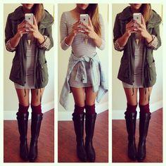 Iris dress from @shoptobi @shoptobi   Direct link  http://tobi.to/jiy ❤️ Jacket- @shopcivilized, socks- @pepperknot, boots- F21 #shoptobi