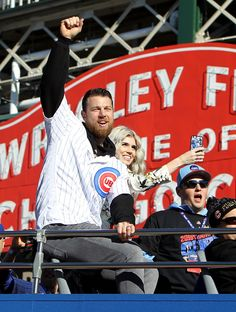 Ben Zobrist #18 of the Chicago Cubs waves to the crowd during a World Series victory parade on November 4, 2016 in Chicago, Illinois. The Cubs won their first World Series championship in 108 years after defeating the Cleveland Indians 8-7 in Game 7.