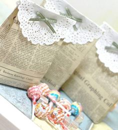 How to Make a Newspaper-made Gift Bag | Click Pic for 25 DIY Wedding Decorations on a Budget | DIY Rustic Wedding Decor Ideas on a Budget